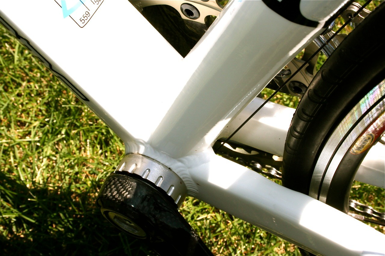 Of course, massive chainstays are only possible with an oversized bottom bracket area.