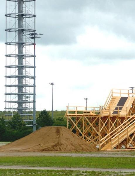 The 8 metre start ramp