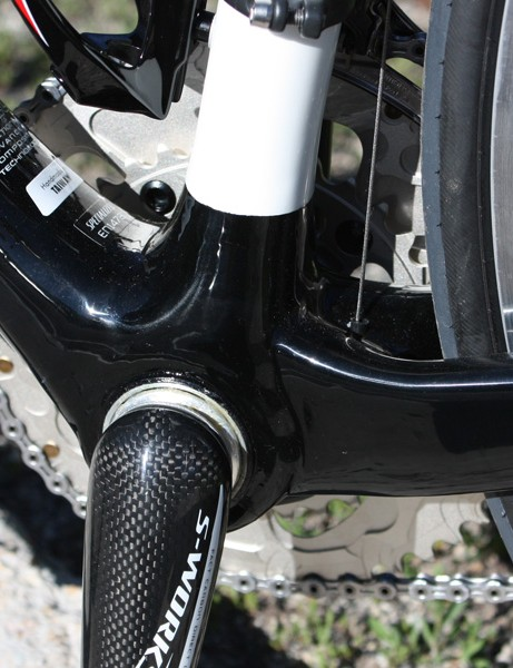 An oversized integrated bottom bracket is used here as well.
