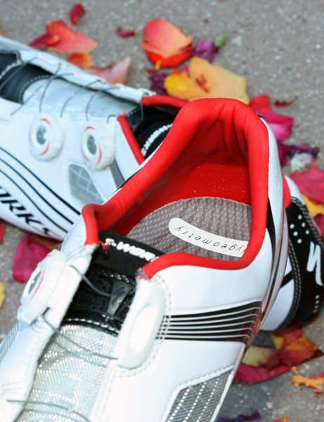The synthetic heel cup liner holds on tight with minimal padding required.