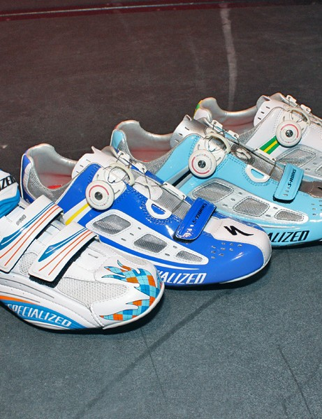 Specialized shoes have become wildly popular among the pros, whether or not their team is so sponsored.