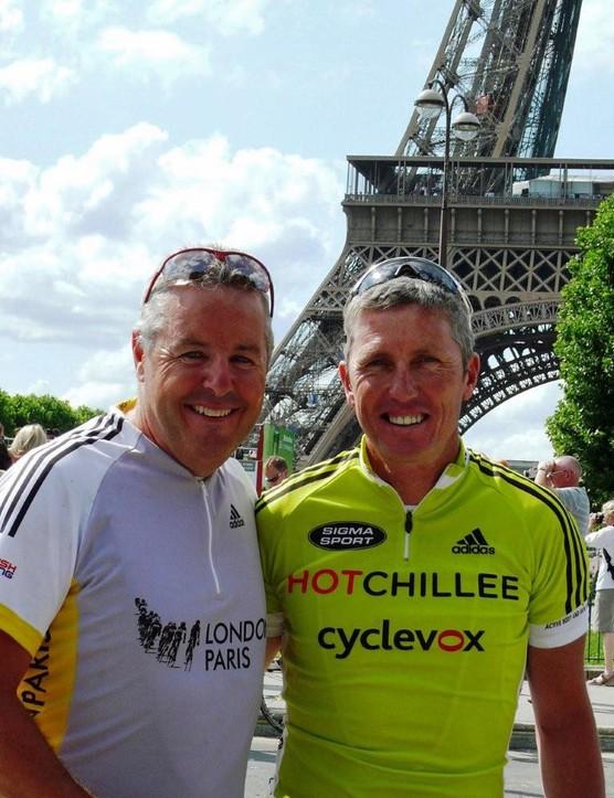 Stephen Roche and Scott Sunderland in Paris
