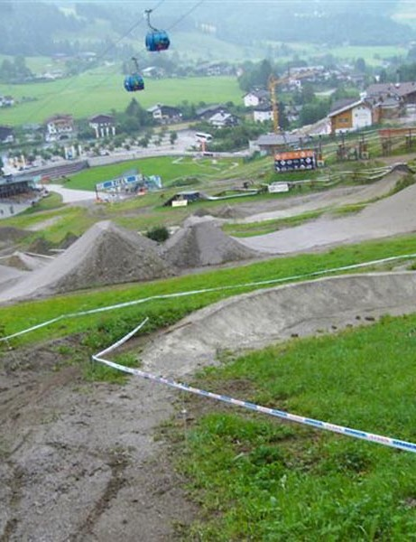 The dirt jumps awaiting the world's top riders