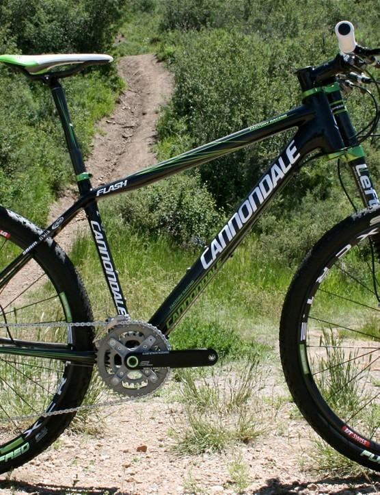 The 2010 Cannondale Flash Carbon Ultimate hardtail will be available in November 2009.