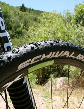 Schwalbe Furious Fred 26 x 2.1 EVO folding tyres.