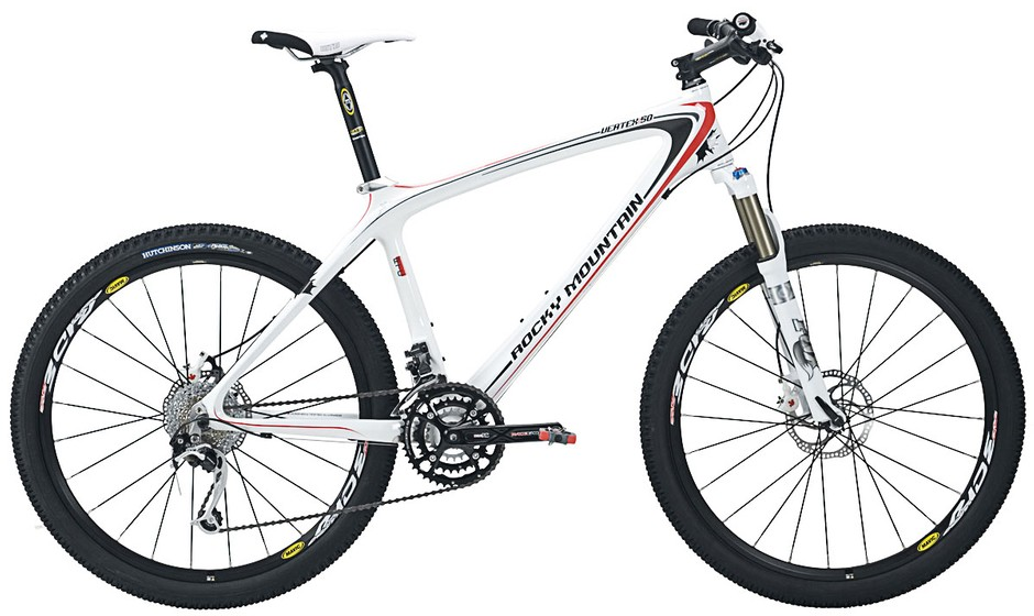 The US$3,049 Rocky Mountain Vertex 50 RSL carbon hardtail.