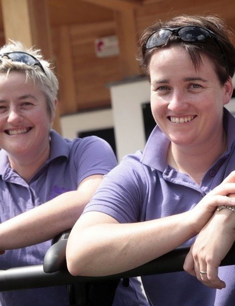 Ruth and Vicky Griffin, directors of Purple Mountain, operators of the new centre
