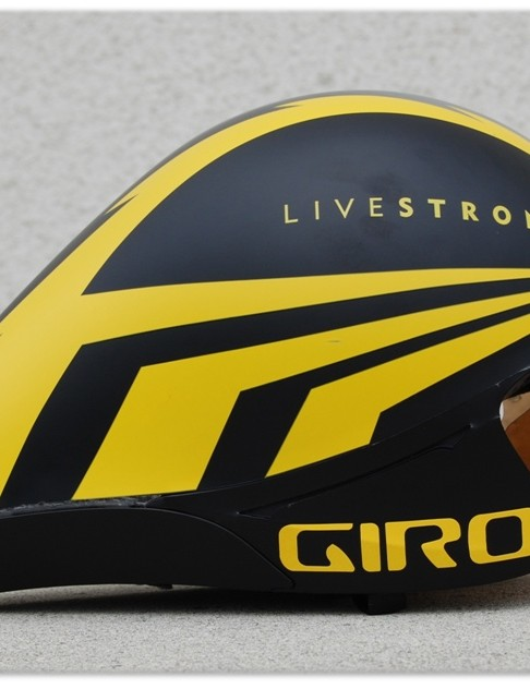 The as-yet-unnamed Giro time trial helmet, debuting at the 2009 Tour de France.