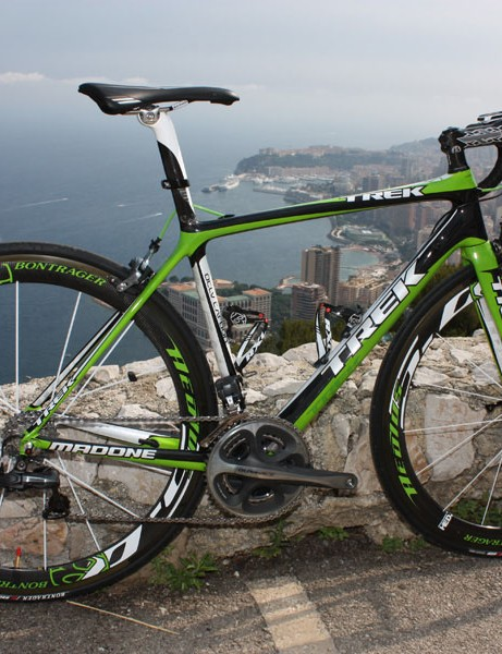 Trek's newest 6 Series Madone will quickly see duty under Lance Armstrong and the Astana team in this year's Tour de France