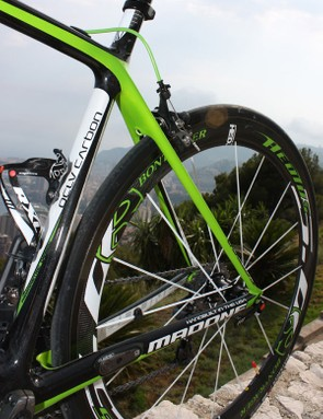 The 6 Series Madone continues to use a wishbone-style rear end...