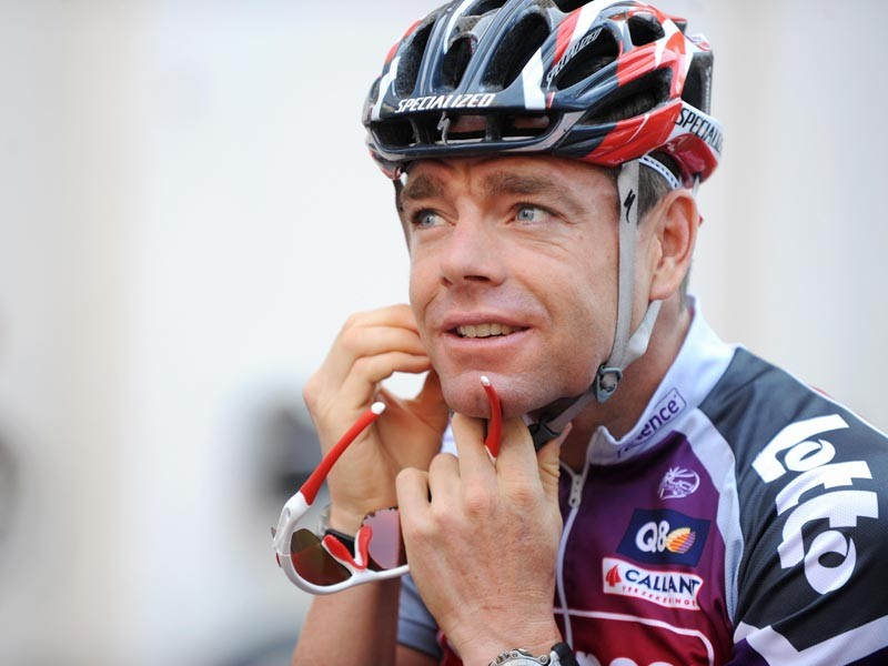 Belgian cycling team Silence-Lotto (SIL)'s rider Cadel Evans of Australia
