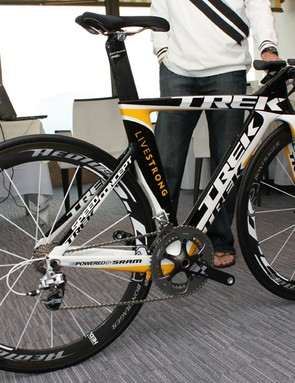 Lance Armstrong, Alberto Contador and Levi Leipheimer will tear around the streets of Monaco on Trek's new Speed Concept time trial bike.