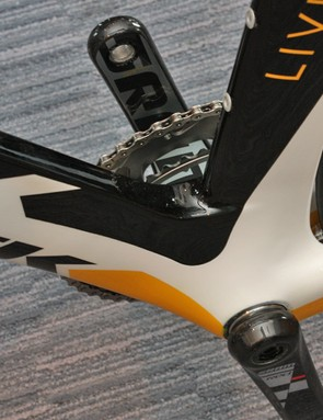 The Speed Concept's unique Kamm tail shaping uses an abruptly chopped tail for the back of the fork blades, down tube, seat tube and seat stays.