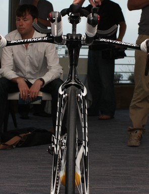 We're used to seeing slender profiles on time trial bikes but this one looks particularly slippery.