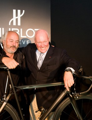 BMC owner Andy Rhis with Hublot's CEO Jean-Marc Biver.