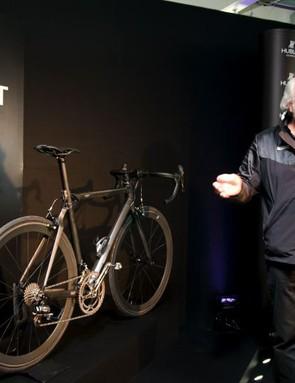 BMC owner Andy Rihs introducing the BMC All Black Hublot Team Machine.