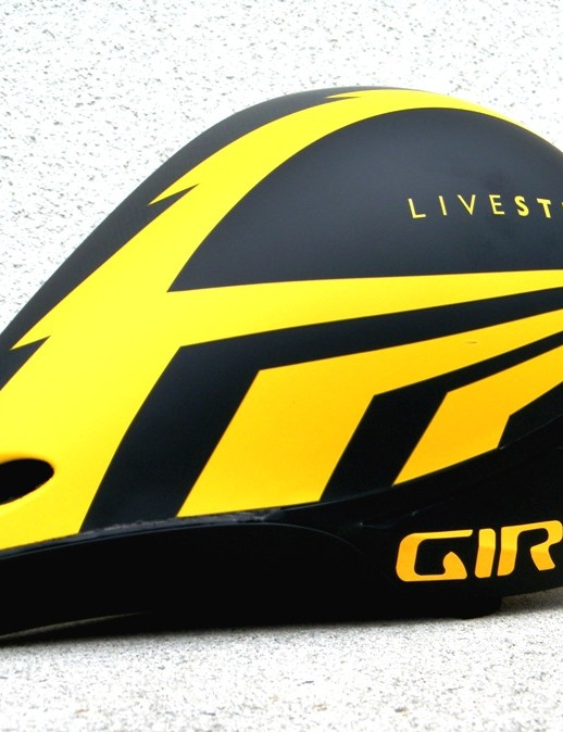 A side view of the new Giro time trial helmet.