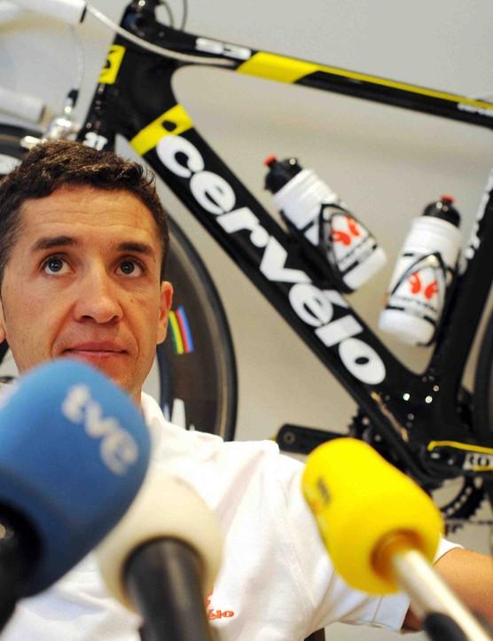 2008 Tour de France winner Carlos Sastre now races for Cervelo.
