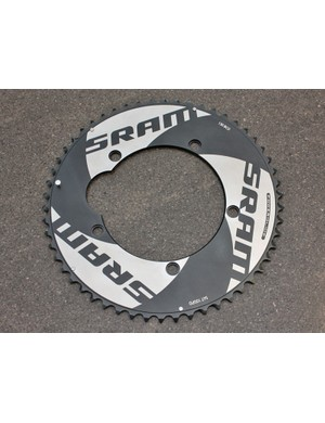 SRAM-sponsored riders will use the company's smooth-sided outer chainrings for time trials as usual.