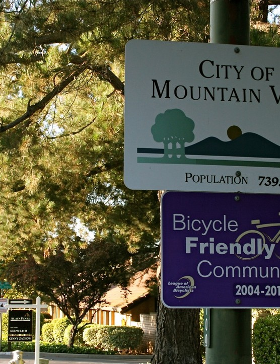 Mountain View, California is a Bicycle Friendly Community, bestowed by the League of American Bicyclists.