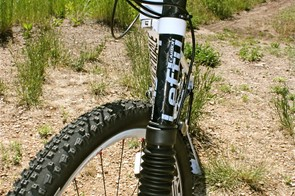 Cannondale's funky and light Lefty suspension fork.