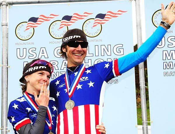 Husband and wife team Jeremy Horgan-Kobelski and Heather Irmiger (Gary Fisher/Subaru) each won their respective national marathon championship events during the 9th annual Firecracker 50 Race in Breckenridge, Colorado July 4.
