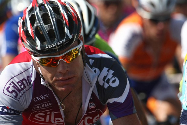 Cadel Evans was one of many caught out by Columbia's tactics to split the peloton