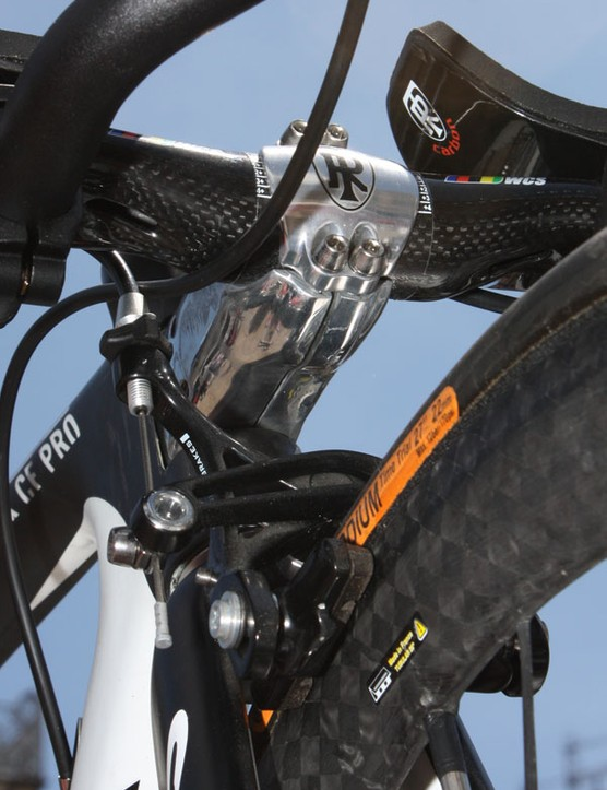 The bolt spacing matches up perfectly with a standard Ritchey faceplate