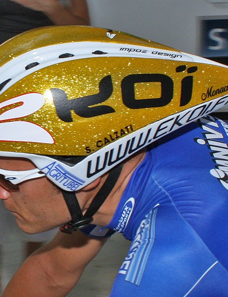 Agritubel switched their helmet sponsor this year to French outfit Ekoi, who provided the team with these surprisingly economical Chrono lids