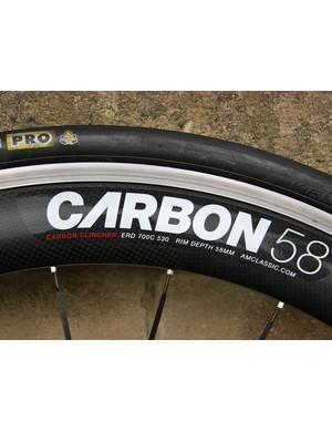 American Classic Carbon 58 clincher rim
