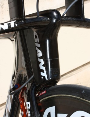 Some team stem assemblies are still made from machined aluminium but all production bikes will use carbon fibre exclusively