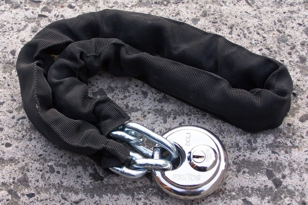 Squire DCL1 disc lock and J3 chain