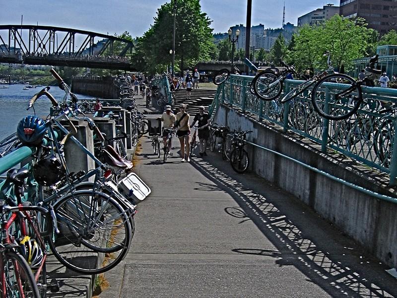 Portland, Oregon is considering installing a public bike hire system