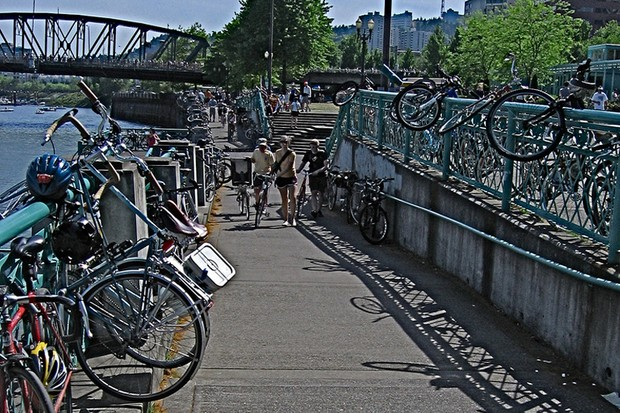 Portland, Oregon is considering installing a public bike hire system