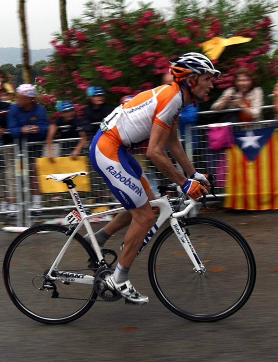 Giro winner Denis Menchov looks like a man who doesn't want to be at the Tour
