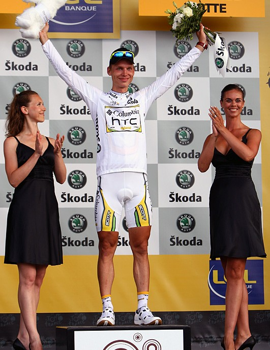 Tony Martin (Columbia-HTC) is the best young rider so far
