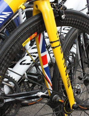 A smidgeon of the Australian national flag pattern is applied to the inside surfaces of the fork blades and chain stays.
