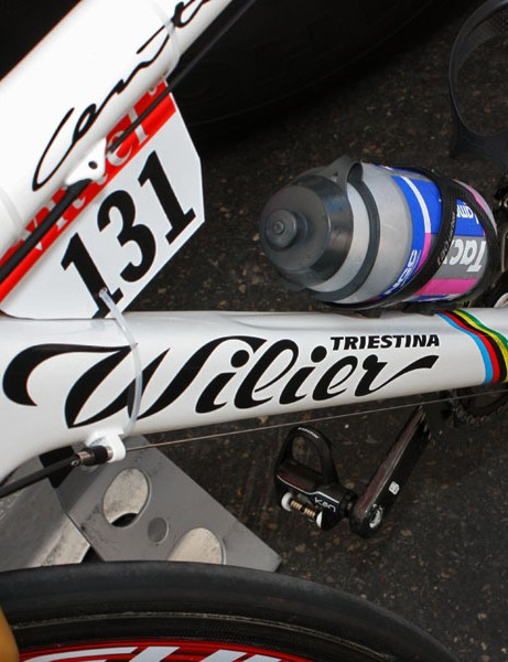 Wilier is rightly proud to have a world champion riding one of its bikes this season.
