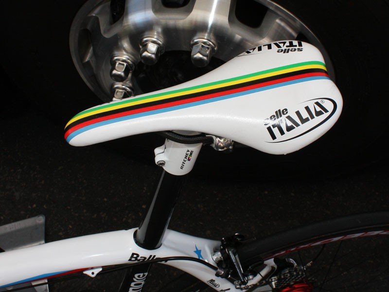 Sure, anyone can buy components adorned with the UCI rainbow stripes - but it's much more meaningful when they're actually earned.