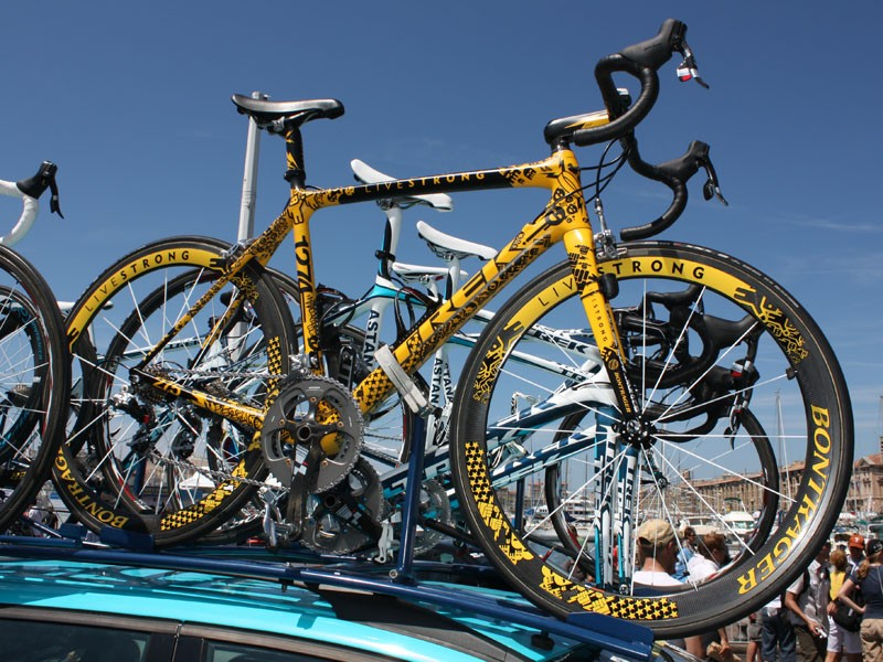 Lance Armstrong (Astana) has not one but four custom finished bikes to use in this year's Tour de France.