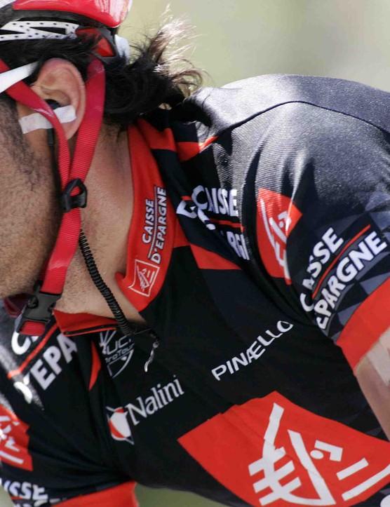 Spaniard Oscar Pereiro was one of two abandons on Stage 8.