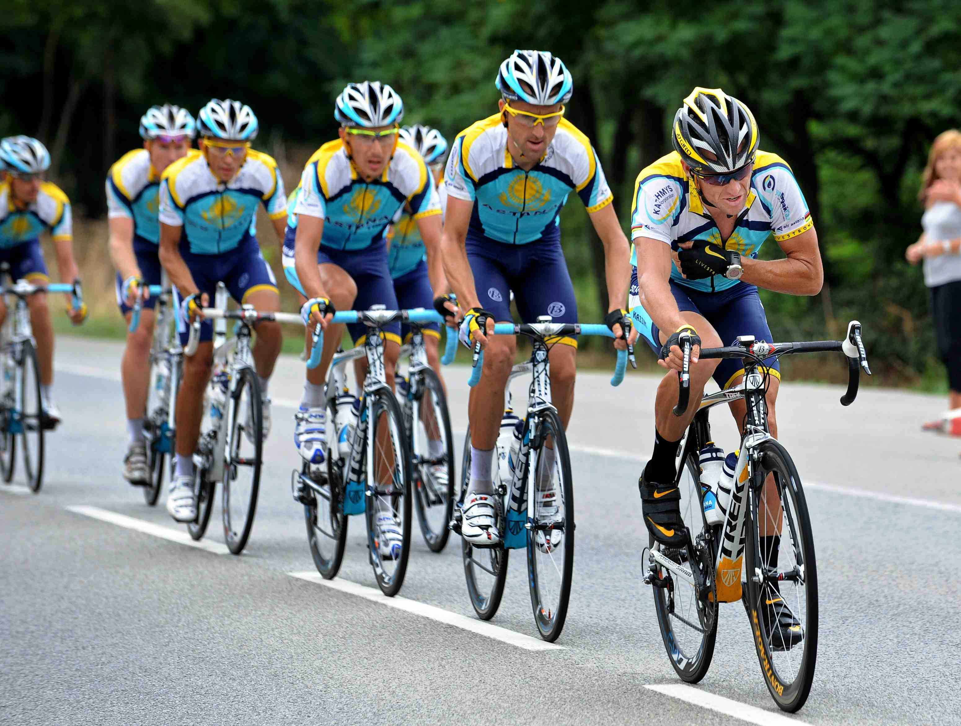 Lance Armstrong's Astana team believes in using race radios, like those pioneered by his 1990s Motorola team.