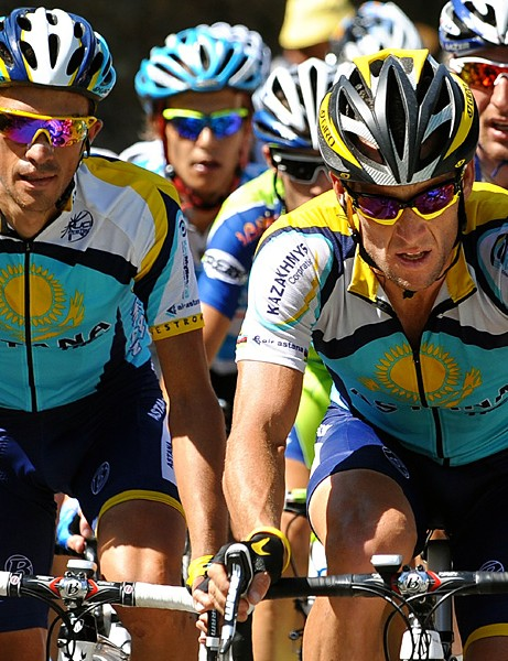 Lance Armstrong and Alberto Contador are shaping up to be the two strongest riders in the Tour