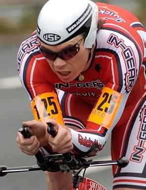Michael Hutchinson, winner of the men's 100 title