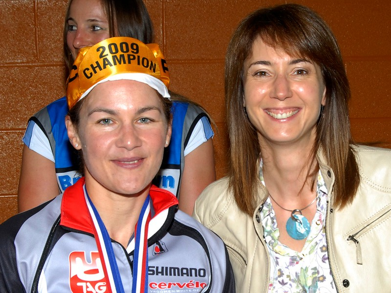 Julia Shaw with Tanya Arnold, BBC North Sports presenter