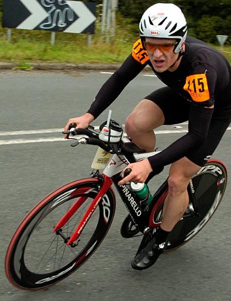 Phillip Graves, third in the men's 100