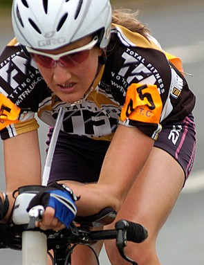 Louise Collins was fourth in the women's race