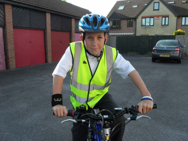 Sam O'Shea has been banned from riding to school
