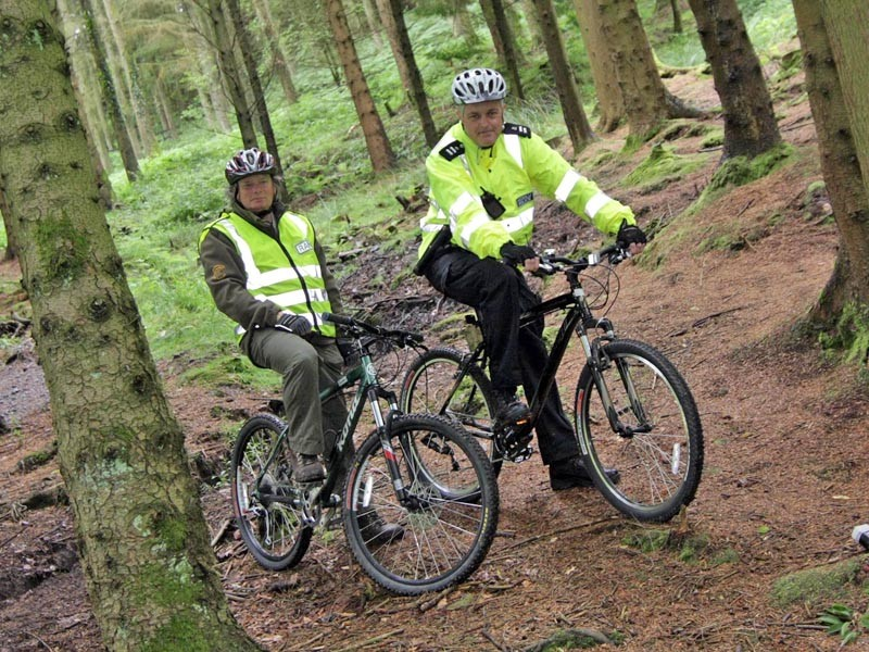 Nick Murfin (Ranger – Afan Forest Park) and Special Police Constable Phil Wall