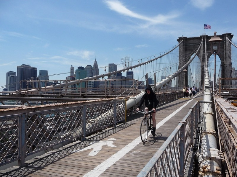 Two hundred miles of new bike lanes have been completed in New York in the past three years
